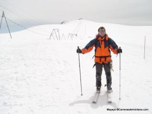 Esquí de Montaña: Inicio ascensión al Breithorn desde final telesilla Zermatt.