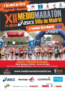 Medio Maraton Madrid 2012 Cartel carrera
