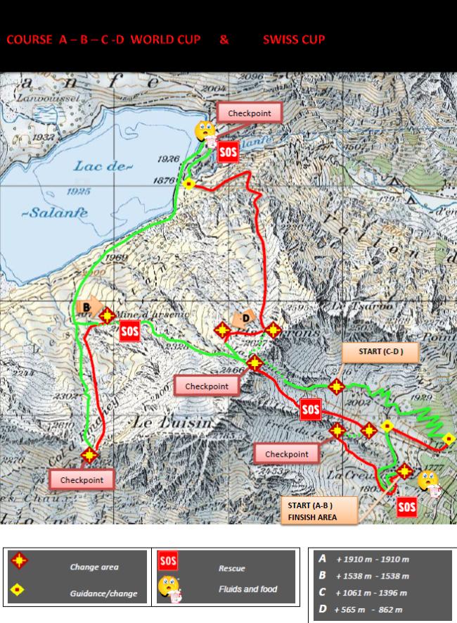 Esqui montaña Copa del  Mundo 2013 Alpiniski recorrido