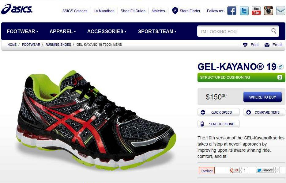 asics zapatillas usa