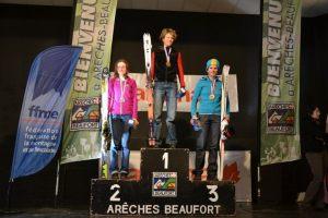 Letitia Roux esqui montaña 1ª en campeonato francia 2013