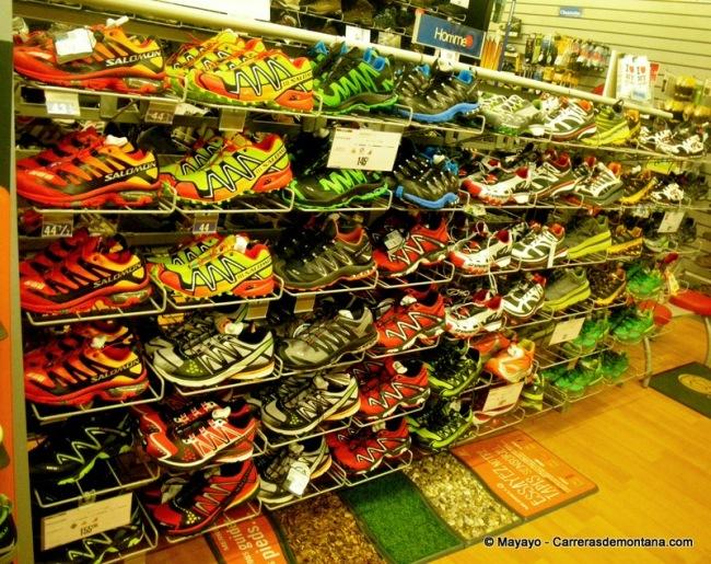 Zapatillas trail running salomon,  amplia presencia en tiendas.