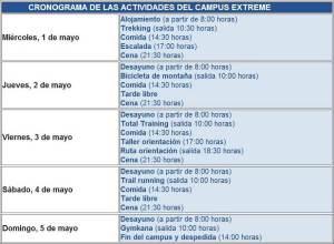 Entrenamiento montaña Navacerrada Campus xtrem programa