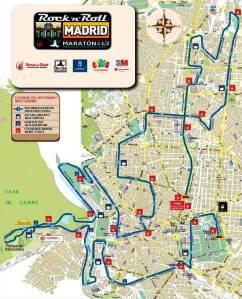 Maratón Madrid 2013: Recorrido.