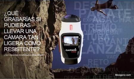 Garmin Virb: Imágenes promocionales del lanzamiento oficial online.