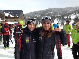 Esqui de Montaña Campeones España 2014 Anna Comet y Javier Martín Foto Jordi Marimón.
