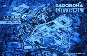 Barcelona City trail carrera Mapa recorrido 11,5k D+400m
