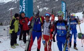 Kilian jornet en la  Copa mundo skimo 2014 verbier. foto ISMF press office