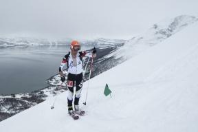 Kilian Jornet en Copa del Mundo esquí de montaña Tromso. Foto ISMF Press Office