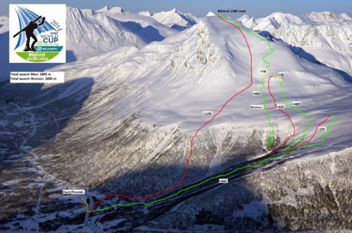 Skimo Tromsö 2014: Mapa de carrera.