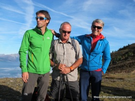 Himalaya de ayer y hoy: Hervé Barmasse, Mark Inglis y Peter Habeler en Dolomitas. Foto: Mayayo.