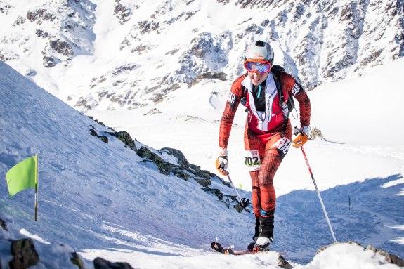 Esqui de montaña. Mireia Miro en Copa Mundo Fontblanca 2015. Foto: ISMF Skimo.