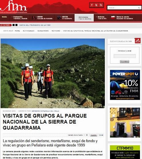 Parque Nacional Guadarrama FMM