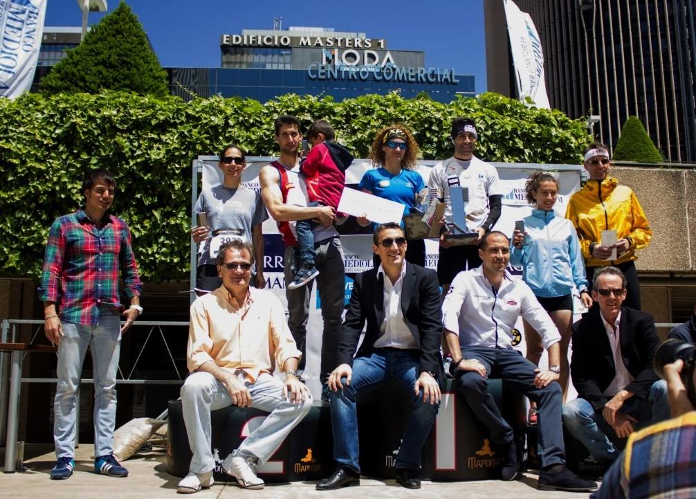 CARRERA VERTICAL URBANA: VERTIGO RACE EN TORRE PICASSO MADRID. (789 escalones/ 44 plantas) Ganan David Robles y Rosi LLorens.
