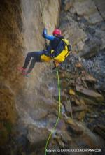Pirineo Aragones, descenso barranco Aguare en Canfranc