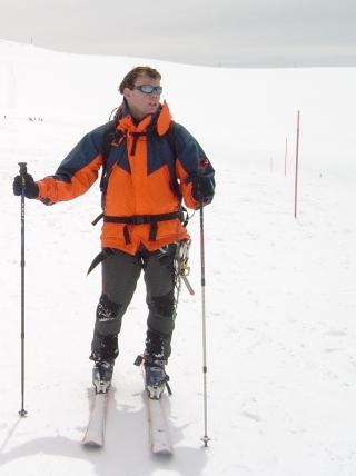 alpes suizos pico breithorn con ski montaña 4138