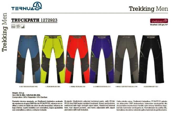 Pantalones de montaña Ternua Truckpath (450gr/117€)