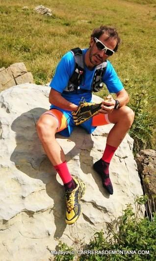 Calcetines Lurbel tras 5 horas de trail por la cima y faldas del Aspe, sobre Candanchú.