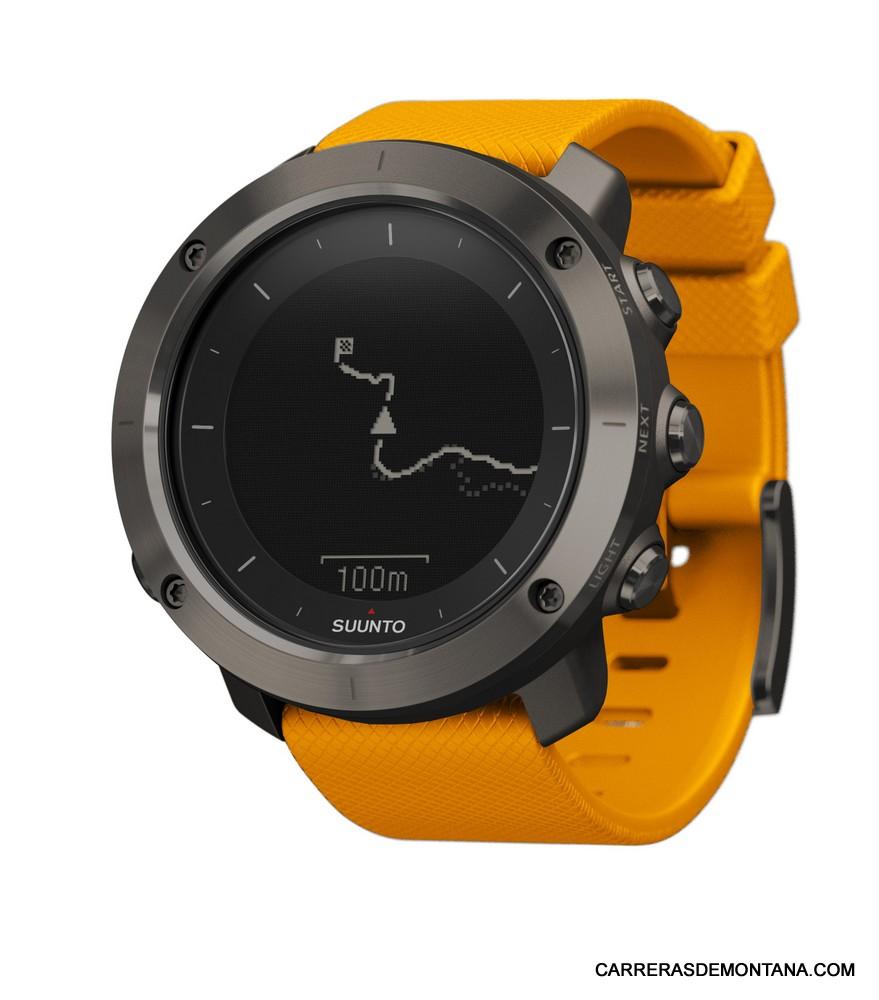 Suunto Traverse: Reloj gps para senderismo, trekking y más. (80gr/399€/Batería 14d standby)