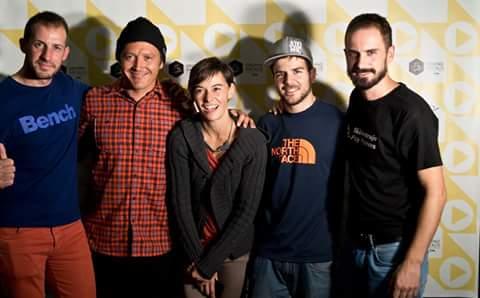 Skimetraje 2015: Los tres organizadores con Xavier De la Rue y Aymar.