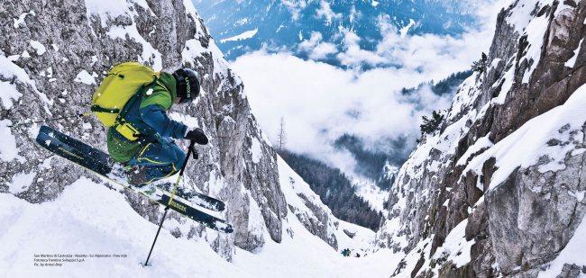 Getvertical Salewa 2015 Freeride ski en San Martino di Castrozza. Foto: Salewa.