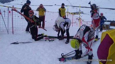 esqui montaña fedme val daran fotos junior femenino final sprint