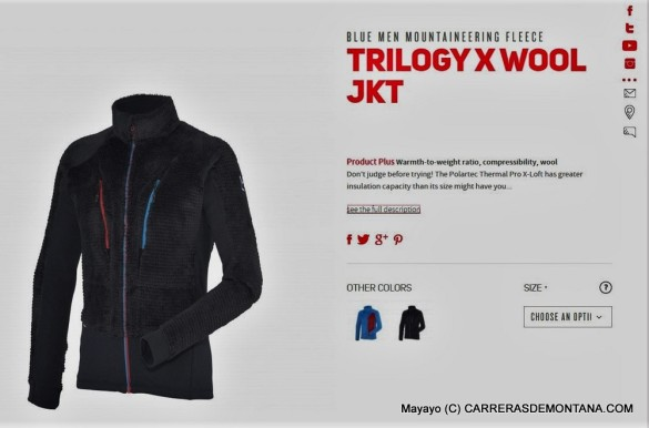 Millet trilogy xwool jacket