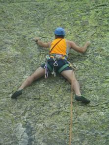sergio garasa rock climbing at Peñalara