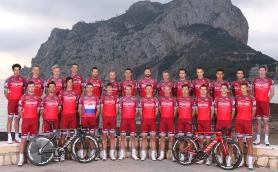 Cycling: Team Katusha Alpecin 2017 Team Katusha Alpecin (SUI)/ Alexandre KRISTOFF (Nor)/ Tony MARTIN (Ger)/ Ilnur ZAKARIN (RUS)/ ©Tim De Waele