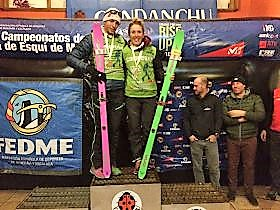Oriol Cardona Claudia Galicia campeones. Foto: Fedme.