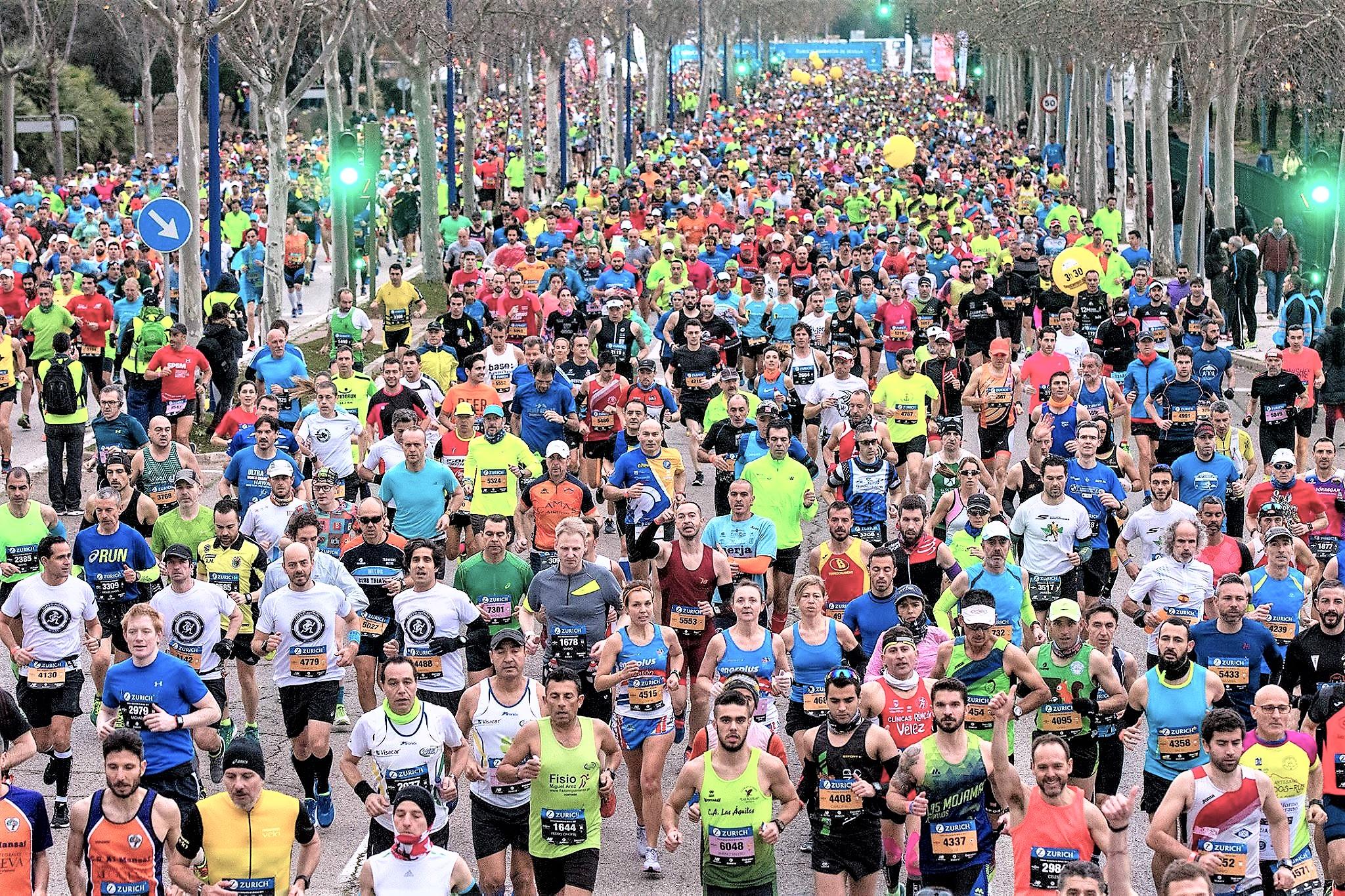 Maratón Sevilla 2.018 regala 600 dorsales a través de tiendas New Balance.