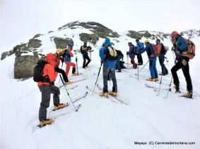 Travesía guiada esquí montaña en Andorra. Foto: Mayayo.