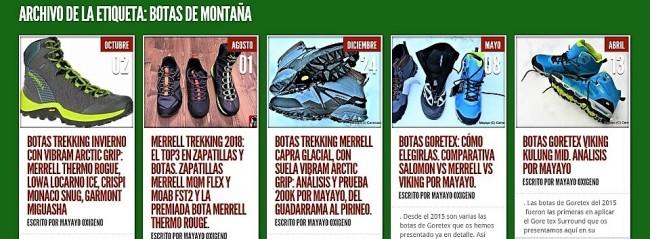 botas de montaña mayayo
