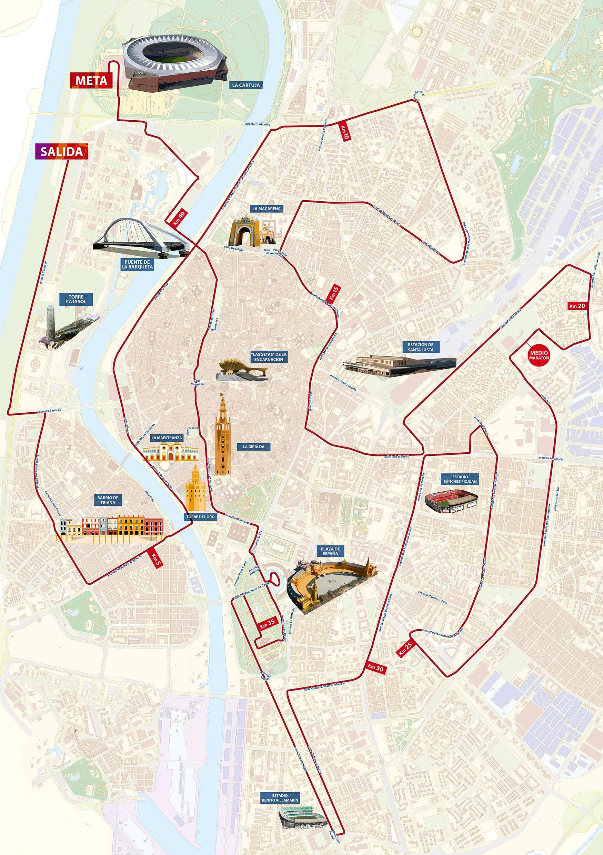 Maratón Sevilla 2.018 acogerá el Campeonato España maratón RFEA.