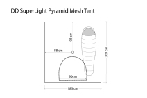 DD Hammocks SuperLight Pyramid Mesh Tent 6