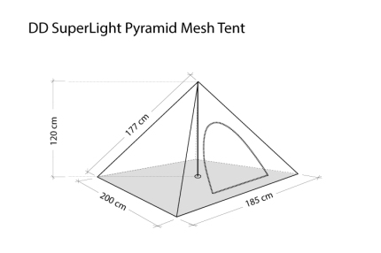 DD Hammocks SuperLight Pyramid Mesh Tent 7
