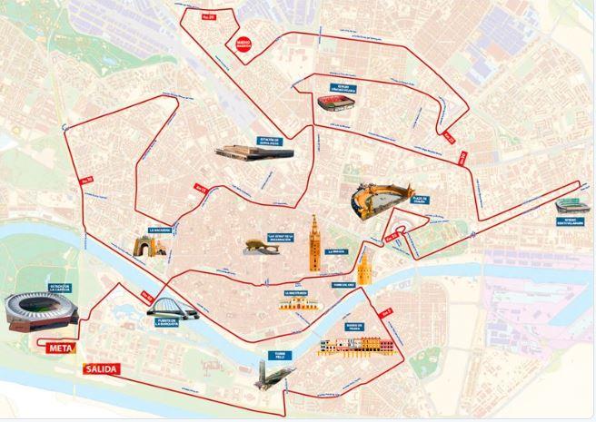 Maratón Sevilla 2.018: Ultima hora. Programa, Guía de carrera y favoritos. Javi Guerra y Marta Esteban lideran los españoles.
