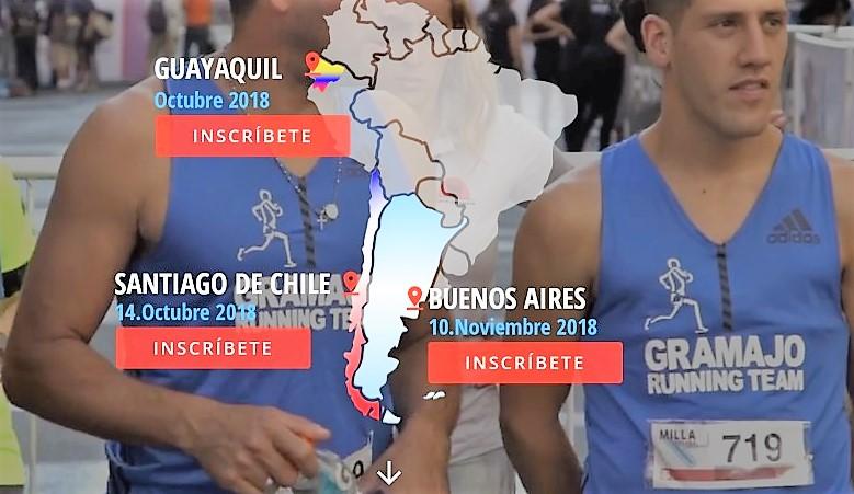 MILLA URBANA CIUDAD BUENOS AIRES (10NOV) Final del Circuito Sudamericano de Milla Urbana, tras Ecuador (7Oct) y Chile (14Oct)