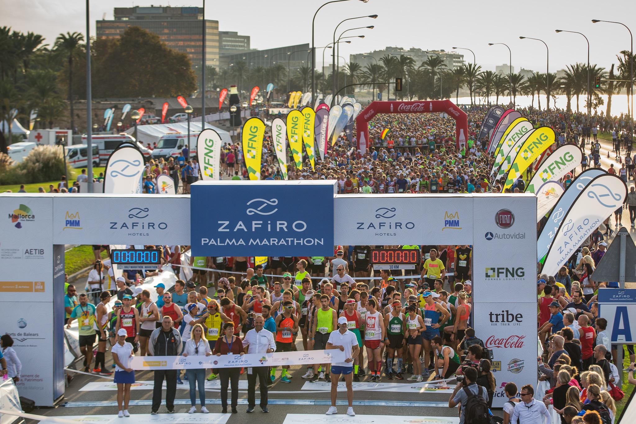 Maraton Palma 2018 ha reunidounos 10.000 corredores en sus tres distancias: 10km, Media Maratón y Maratón.