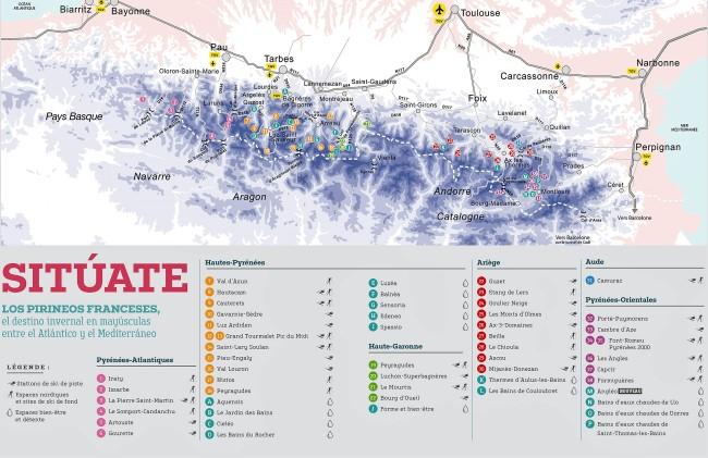Mapa Estaciones Esqui España.Esqui Francia 2018 19 El Pirineo Frances Estrena Temporada