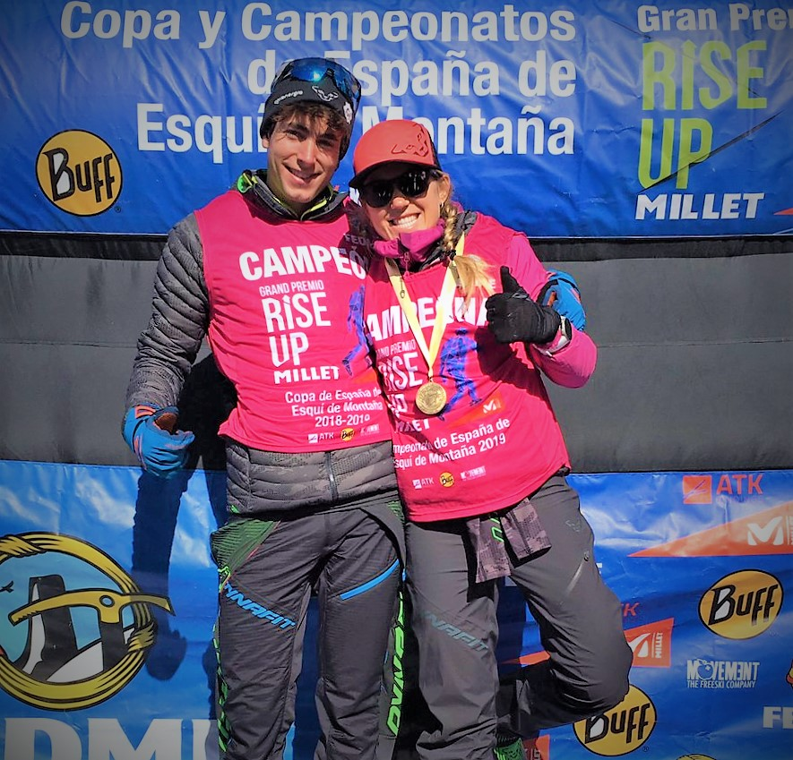 Esquí de Montaña: CAMPEONATO ESPAÑA FEDME 2019 Claudia Galicia y Oriol Cardona, triple oro al ganar Cronoescalada, Sprint e Individual