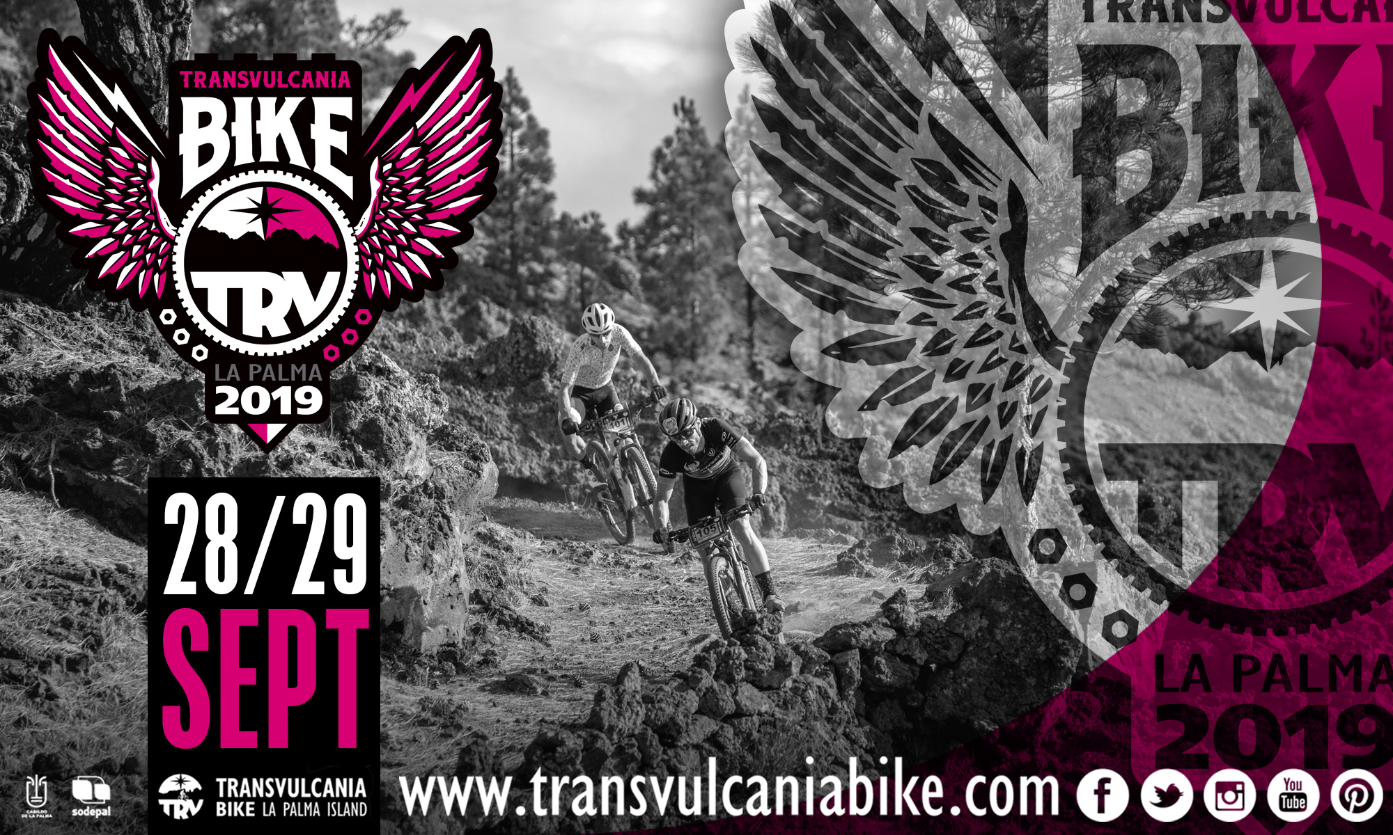 BTT: TRANSVULCANIA BIKE 2019 ABRE INSCRIPCIONES (28-29SEP/30k-75k-Descenso) Grandes carreras de mountain bike en La Palma
