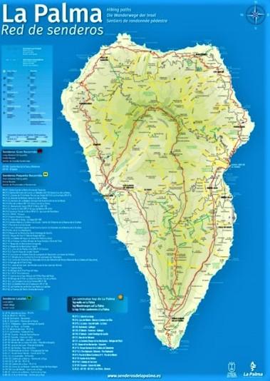 Senderismo La Palma. Mapa oficial de senderos por Mayayo 2