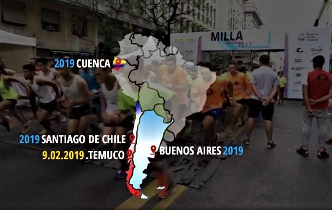 RUNNING SUDAMERICA: Circuito Sudamericano de Milla Urbana 2019 (7 Citas) Campeonato Iberoamericano, con el apoyo Sebastian Coe (Pdte IAAF)