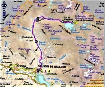 mapa gr 11 embalse la sarra a refugio respomuso rutas pirineo aragones