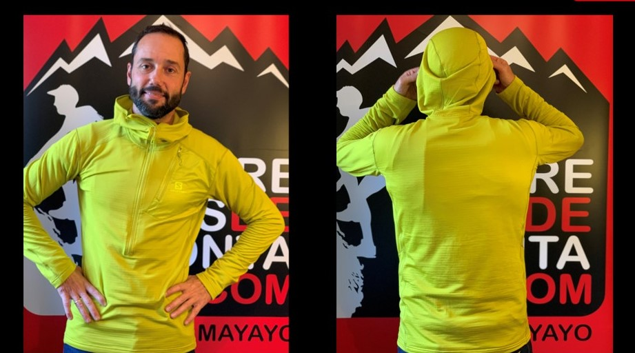 SALOMON GRID HZ MID HOODIE REVIEW: CHAQUETA HÍBRIDA MONTAÑA INVERNAL. Análisis y comparativa vs. Raidlight, Adidas y Rab.
