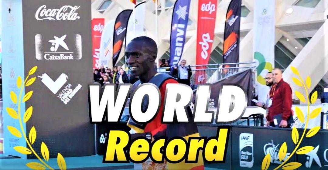 RECORD DEL MUNDO 10KM EN VALENCIA. Joshua Cheptegei lo rebaja hasta 26:38, desde los 26.44 anteriores.