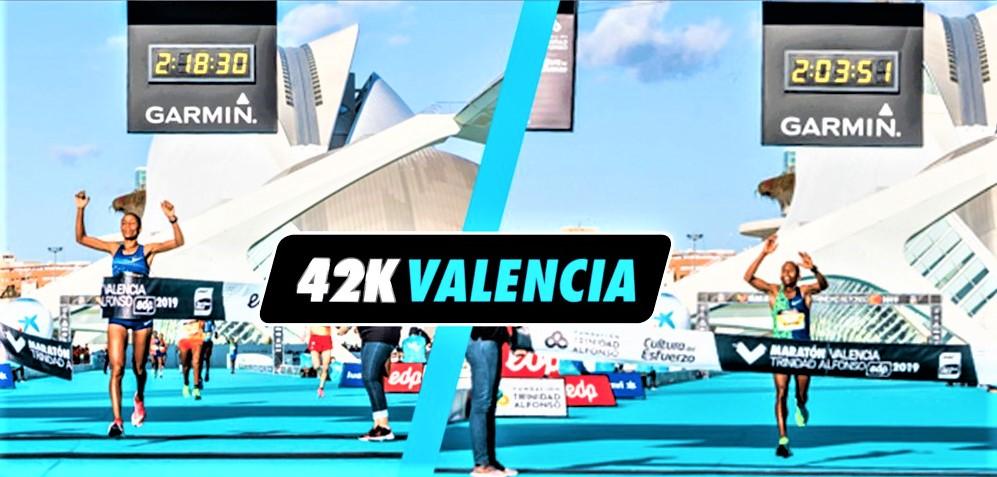 Maratón Valencia 2019: Record de España, con 21.654 finalistas en meta. Ganan Kinde Atanaw Alayew (2h03:51) y Roza Dereje (2h18:30)