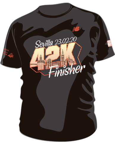 camiseta finisher maraton sevilla 2020 mayayo