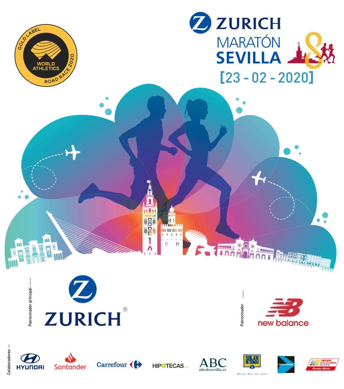 Maratón Sevilla 2.020 (23Feb) Nuevo record de inscritos con 14.000. Ultima hora previo carrera. Trazado y favoritos.